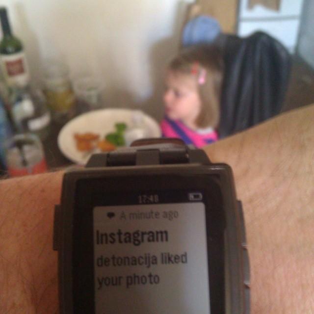 Photograph of my Pebble wristwatch