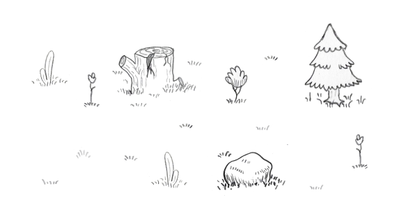 Doodle Rogue scenery sketches